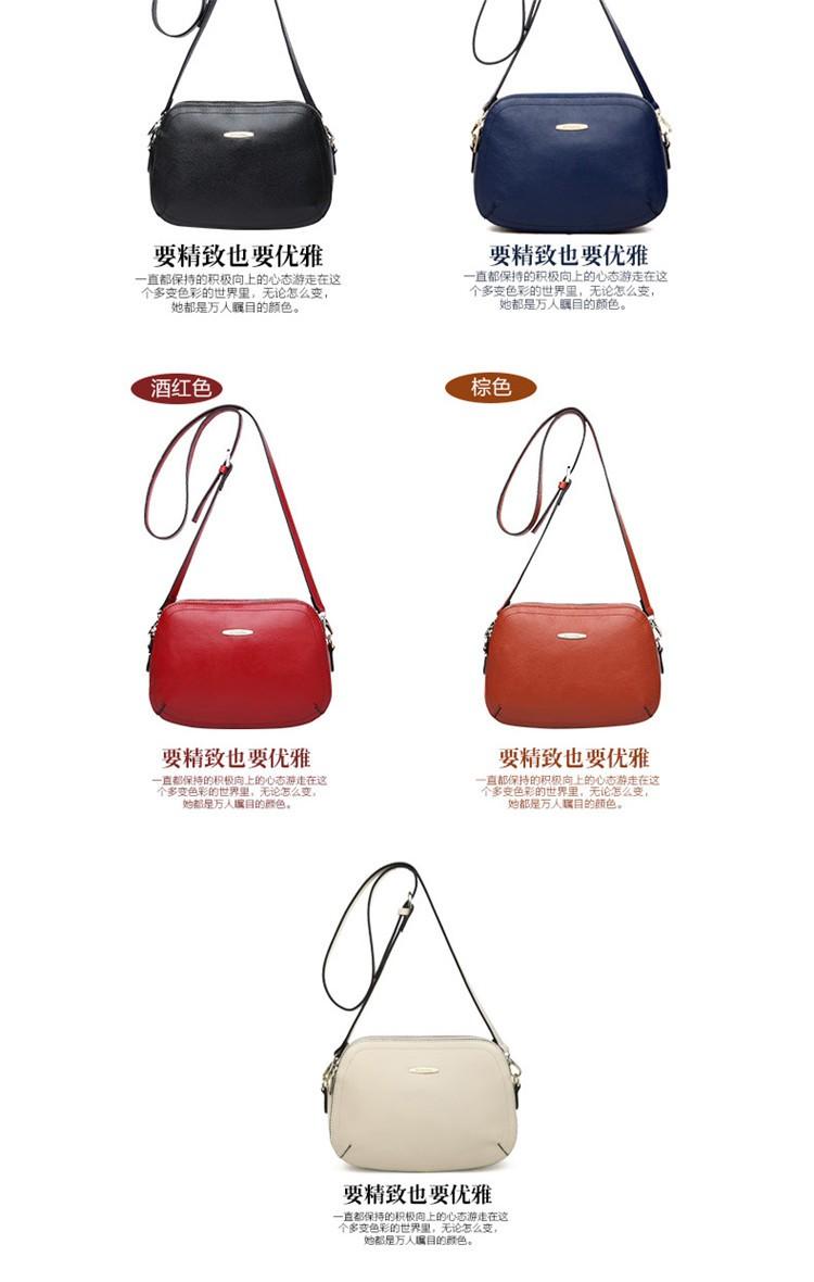 New 2015 Fashion Women Genuine Leather Messenger Bag Shoulder Bags Crossbody  Bolsos Carteras Mujer Marca Handbags Famous Brands07