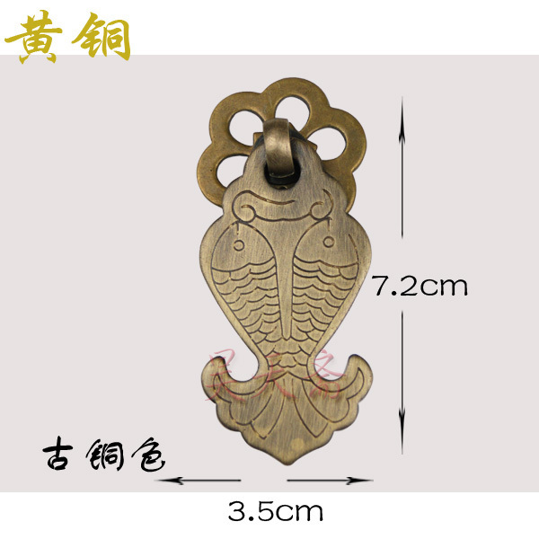 [Haotian vegetarian] Chinese antique furniture cabinet drawer handle copper handle diving kite flying HTE-185<br><br>Aliexpress