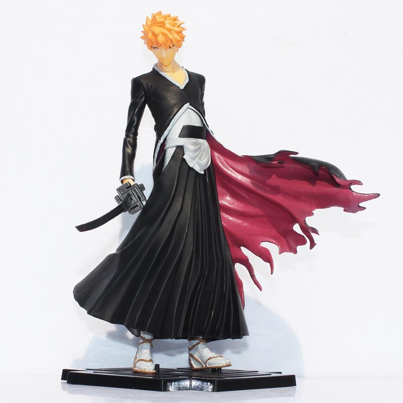 Japana anime Bleach Figure Toy Kurosaki Ichigo PVC Action figures toys 19cm Free shipping<br><br>Aliexpress