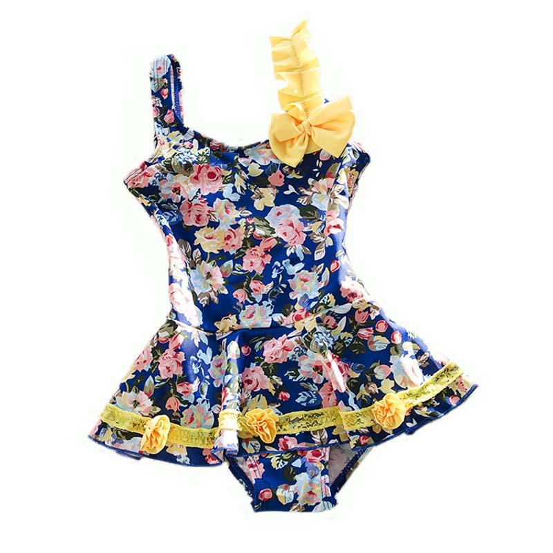 2016 Children Little Girl Swimwear One Piece Pink Flowers Nylon Baby Kids Girls Cute Swimsuit Bathing Suit Beachwear<br><br>Aliexpress