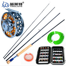 2.7meter 7/8# 4period fly fishing rod fly fishing reel fishing tackle lure set fishing rod
