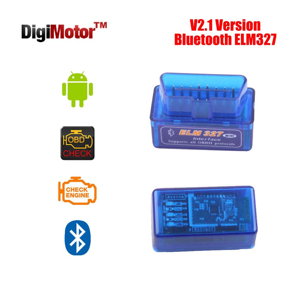 Mini V 2.1 ELM327 OBD2 Bluetooth Adapter ELM 327 V2.1 OBD 2 OBDII Scanner Diagnostic Scan Tool Car Code Reader OBD-II ELM-327(China (Mainland))