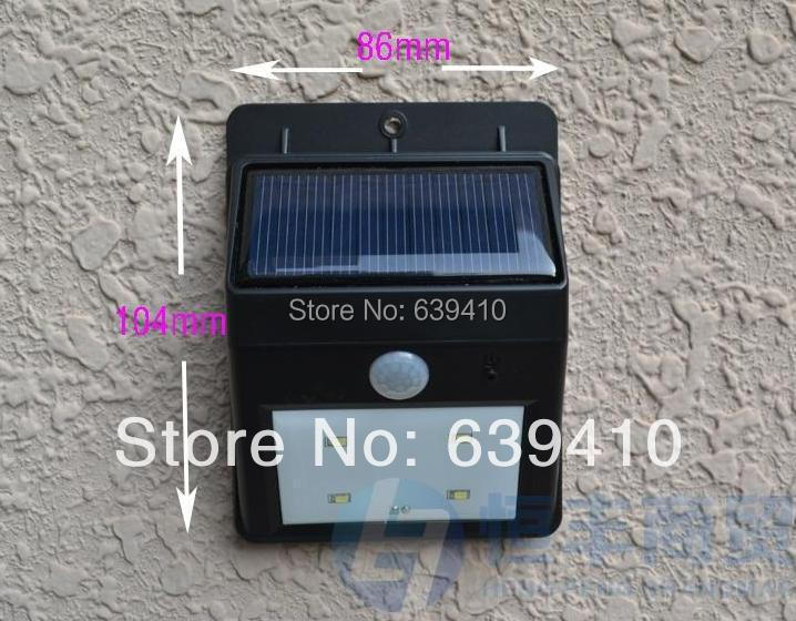 HIGH QUALITY Solar motion Light Wall Mounted PIR Motion Sensor Detector Activated /Garden Yard Steet Solar Lights(China (Mainland))