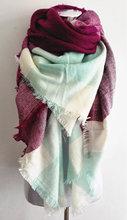 za major Winter 2016 Tartan Scarf blanket Plaid Scarf cuadros New Designer Unisex Acrylic Basic Shawls Women's big size Scarves(China (Mainland))