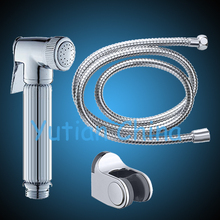 Hot selling free shipping !! Solid Brass Material Hand Held Bidet Spray Shower Head with 1.5M stainless steel shower hose(China (Mainland))