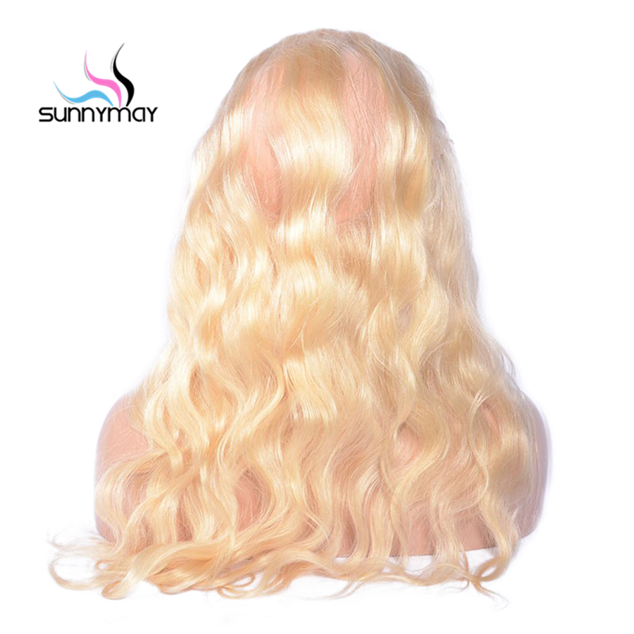 Sunnymay Blonde Body Wave Brazilian Hair Closure Swiss Lace Rmey Human Hair 360 Lace Frontal Adjustable Straps Free Shipping