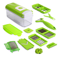 Hot Sale Home Kitchen 12PCS 1Set Multifunction Vegetable Shredder Machine Fruits Device Slicer Cutter Diced Green