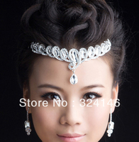 Factory price Nice clear rhinestone bridal tiaras wedding Crown best gif for beautiful bride wedding accessories