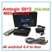 4K M8S Android TV Box Amlogic S812 2Gb/8Gb Android 4.4 kitkat KODI Preloaded 2.4G/5G WiFi Bluetooth