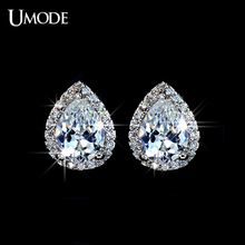 UMODE Fshion Water Drop Design Top Quality Earrings Cubic Zircon Stud Earring for Women Boucle D'oreille Pendientes Mujer UE0026(China (Mainland))