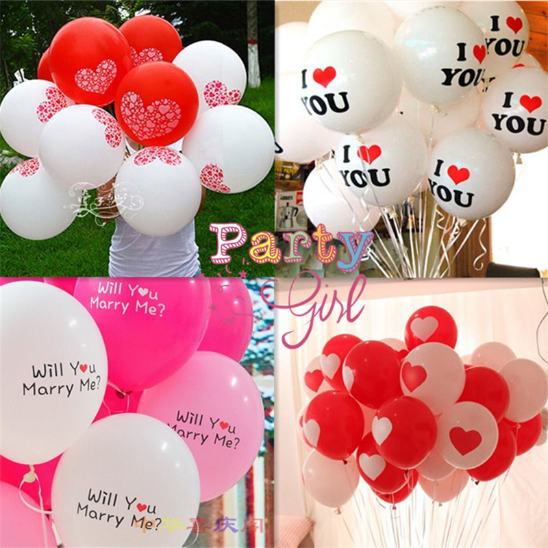 50Pcs/Bag High quality Sweet Heart Balloon 2.8g Large Heart Latex Balloons For Birthday/Wedding Party Decoration Wholesale<br><br>Aliexpress