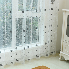 2015 New bird nest modern sheer panel Embroidered curtains for kitchen living room the bedroom tulle for windows finished blinds(China (Mainland))