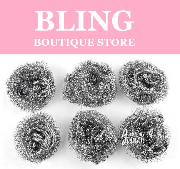 Bling Recommend Free Shipping 150pcs/lot Stainless Steel Sponge Clean & Wash Ball In Kitchen Magic Eraser For Dirty 9x8.5cm(China (Mainland))