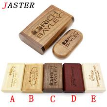 JASTER (over 10 PCS free LOGO) wooden usb+box usb flash drive pendrive 4gb 8gb 16gb 32gb usb 2.0 memory stick photography gifts(China (Mainland))