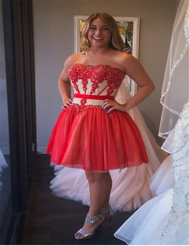 Plus red dress for teens | Red Fashion hits