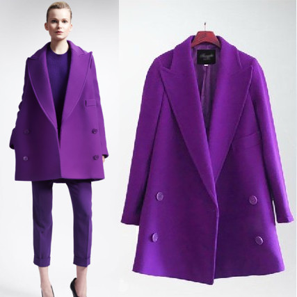 New 2015 Fashion Women Wool Coat Autumn Winter Medium Long Single Trench Coats Ladies Warm Casual Woolen coats Plus Size xl-5xl(China (Mainland))