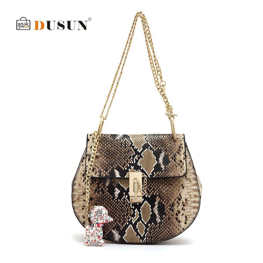 DUSUN Brand Women Messenger Bag Ladies Summer Small Serpentine Bag For Women Leather Handbag Vintage Women Bag Shoulder Bag Tote<br><br>Aliexpress