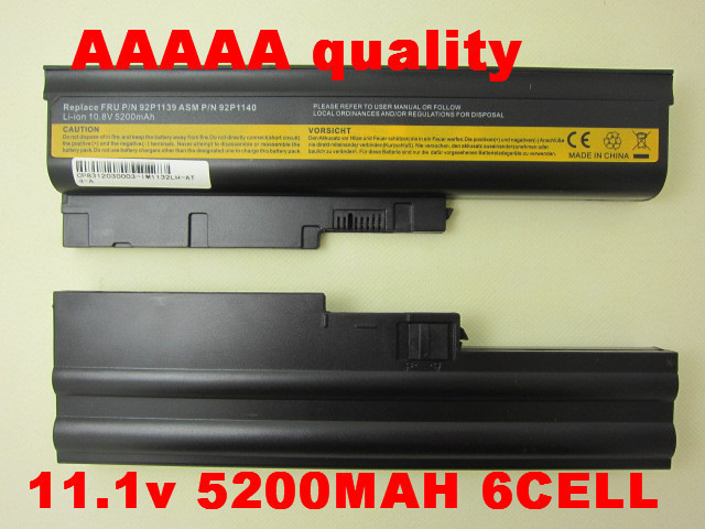 5200mAh Battery for IBM Lenovo ThinkPad R60 R60e R500 T500 W500 SL400 SL500 SL300 SL510(China (Mainland))