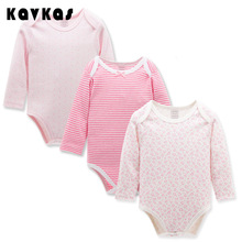 Retail 3pcs/pack 0-2yrs long Sleeved Baby Infant bodysuits for boys girls jumpsuits Clothing 2016 new free shipping