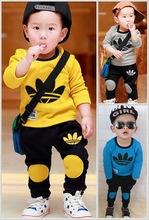 2015 brand new Boys clothing set kids sports suit children tracksuit girls T shirt pants gogging sweatshirt casual clothes(China (Mainland))