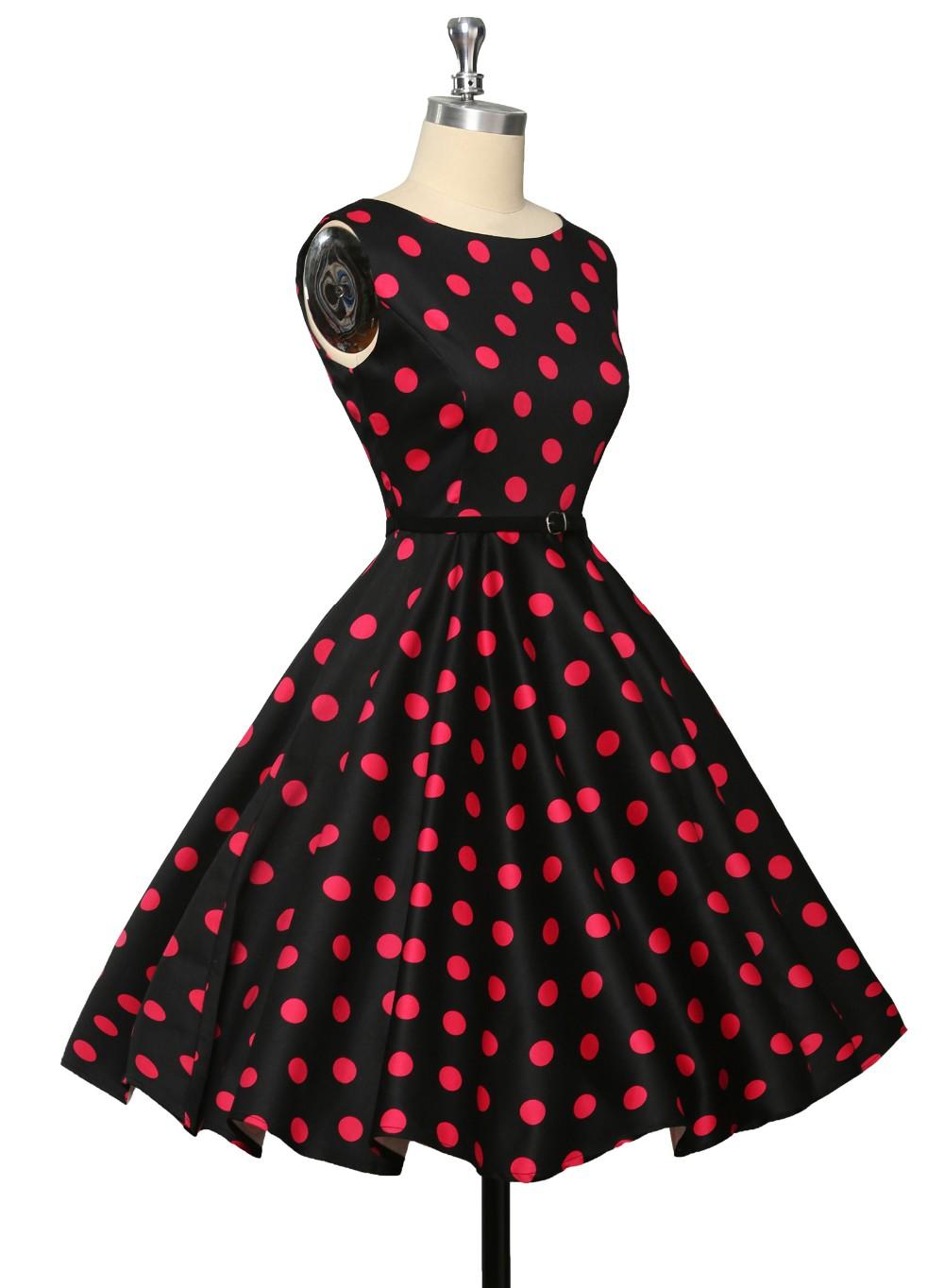 Короткое вечернее платье элегантный Большой размер вечерние платья цветочные ну вечеринку напечатаны халат старинные летом в горошек качели ретро