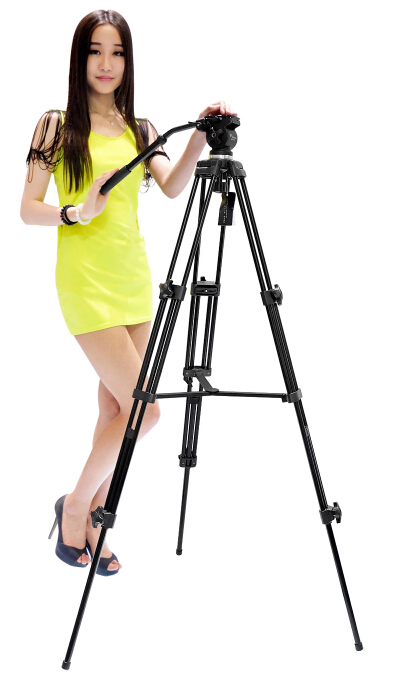 WEIFENG 717 1.3m 6kg bear weight professional video camera tripod fluid head pan tilt(China (Mainland))