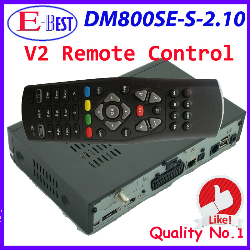 DM800se hd with V2 Remote Control Enigma2 Linux OS Satellite tv Receiver dm 800 hd se BCM4505 Tuner sim2.10 DHL Free Shipping(China (Mainland))