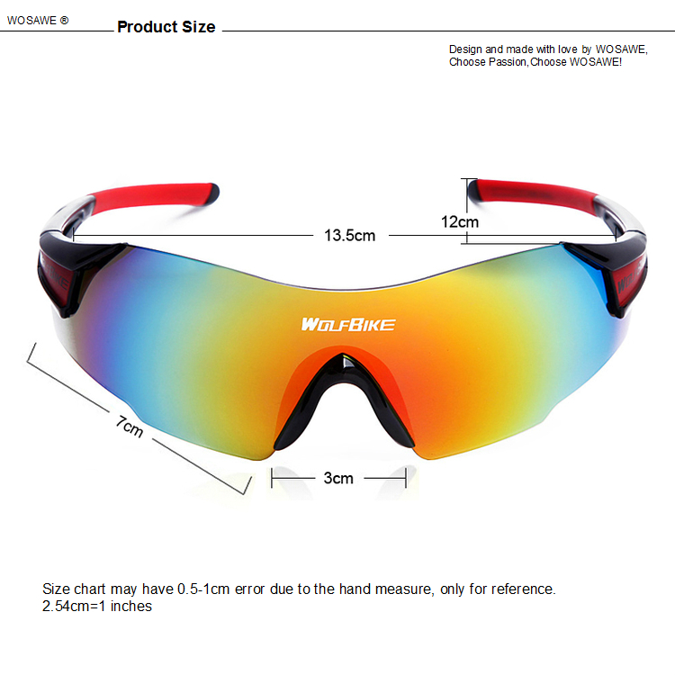 WOLFBIKE UV400 Cycling Glasses Outdoor Sport Mountain Bike MTB