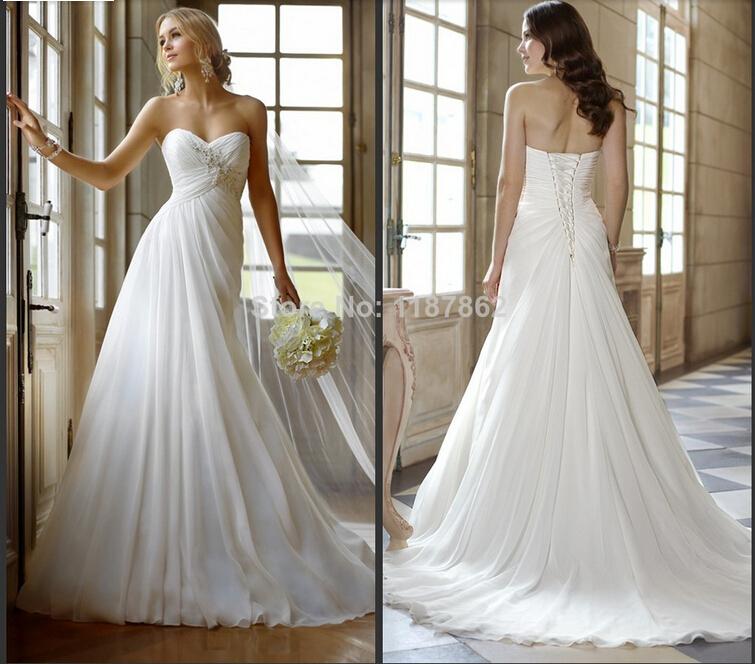 White Linen Wedding Dress Plus Size: Plus size white ivory women ...