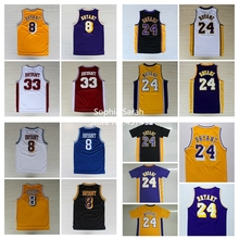 2013 New Fashion #24 Kobe Bryant black white yellow purple  REV black gold Rev 30  Brand Basketball jersey  Embroidery logos