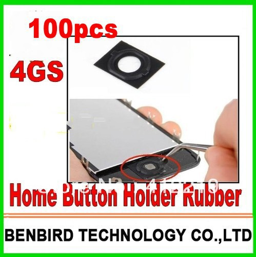 100pcs Free ship part for iphone 4S / 4GS Home Button Holder Rubber Gasket Replacement Parts YL1211-20