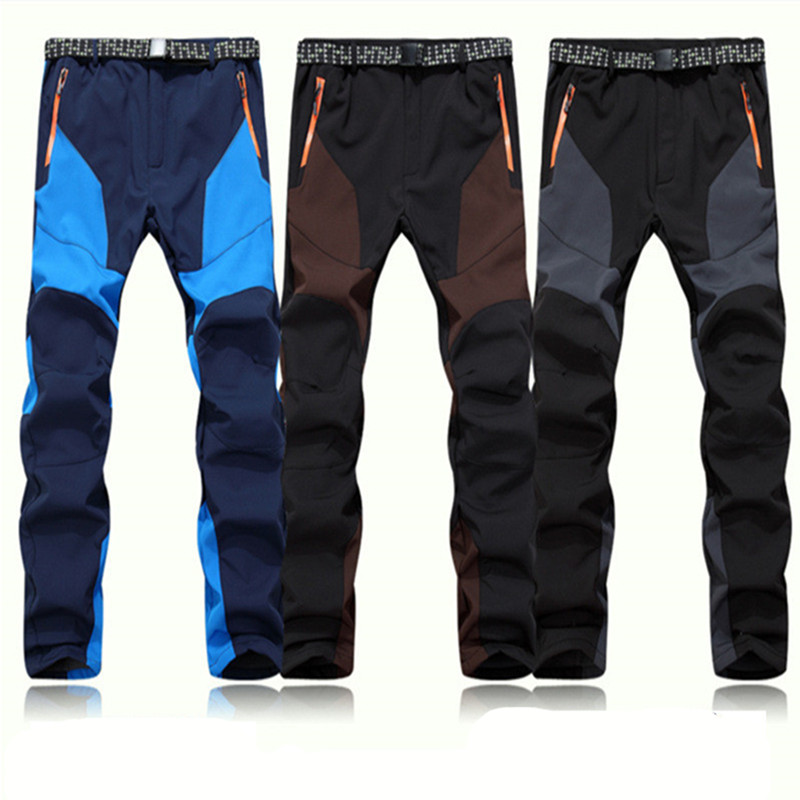 2015 hot Outdoor Men waterproof Pants softshell ski Pants Keep Warm Wind Proof Trousers Climbing and hiking Trousers In Winter(China (Mainland))