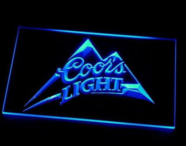 b-18 Coors Light Beer Bar Pub LED Neon Light Sign(China (Mainland))