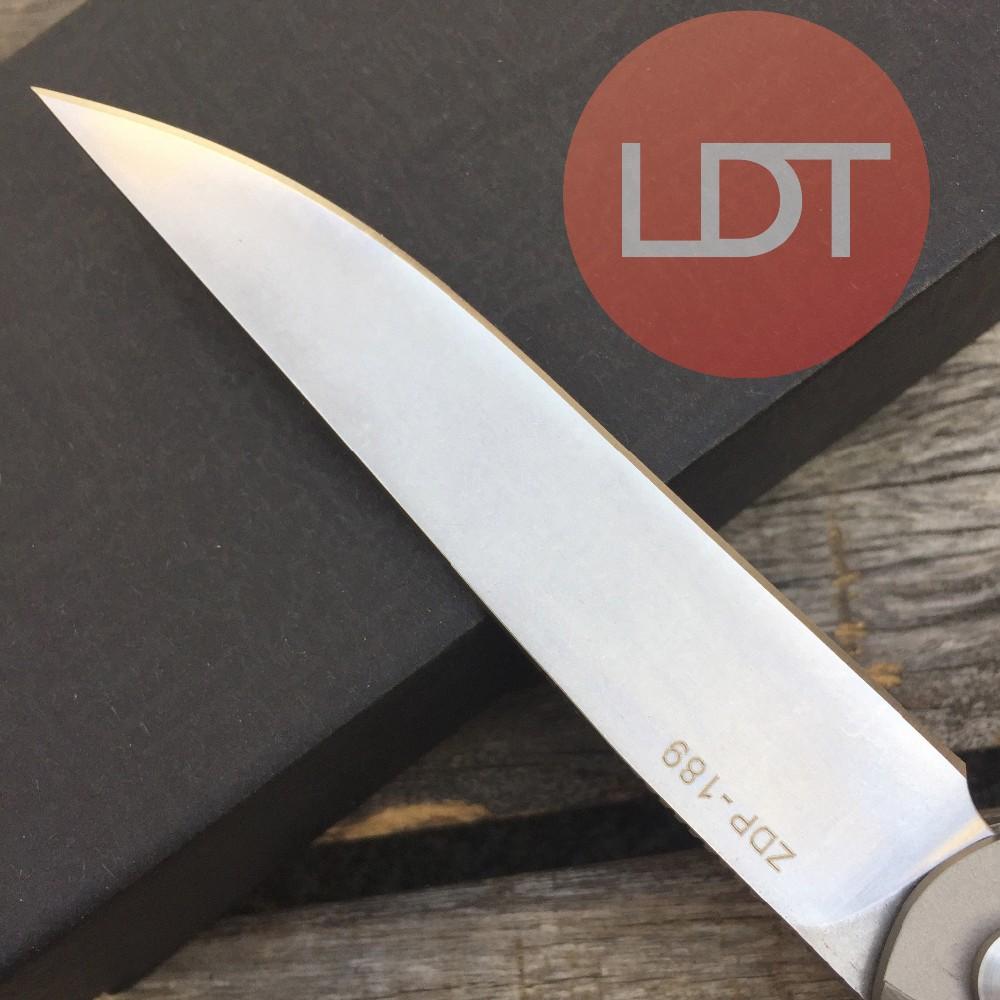 Buy LDT Zieba Tactical Folding Knife ZDP189 Blade Titanium Handle Ball Bearing Tactical Knife Camping Hunting Outdoor DEC Tools OEM cheap