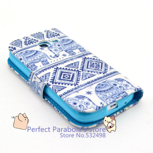 1 Hot Selling Fashion Cute Elephant Flip Magnetic PU Leather Wallet Card Stand TPU Case Cover Samsung Galaxy S7262 - Perfect Parabola's store