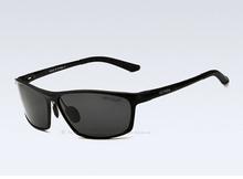 Hombres de aluminio de gafas de sol polarizadas deportes de Sunglass Eyewear accesorios hombre de conducción azul espejo gafas de sol gafas