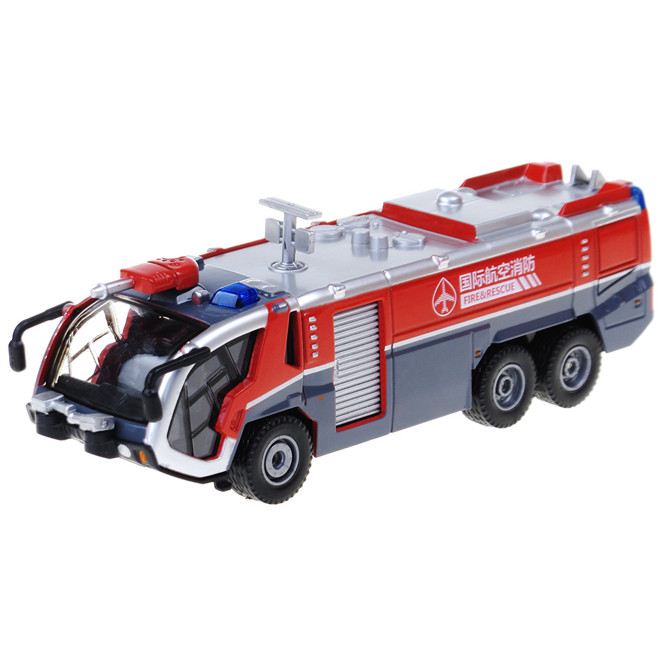 2014 Hot Sale Alloy Engineering Car Model High Pressure Water Gun Fire Truck Mold 1:50 High Imitation Truck Toy Free Shipping(China (Mainland))