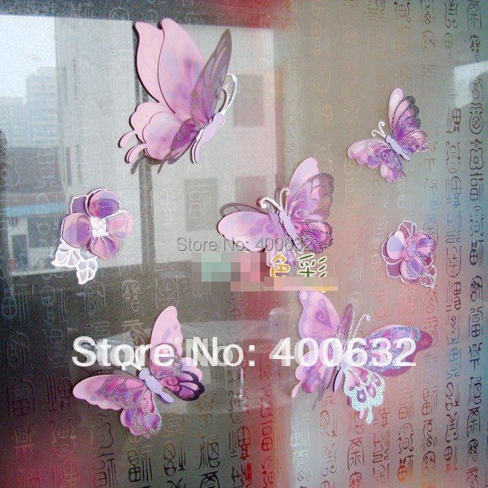 Purple Pollen Removable Wall Art Decal Sticker Diy Home: Diy Butterfly Decorations