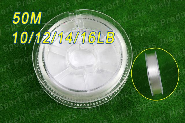 Free Shipping 50m 100% Japanese Fluorocarbon Material Leader Fishing Line 10lb 12lb 14lb 16lb