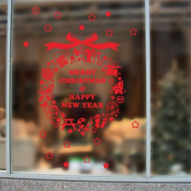 С рождеством христовым стены магазин оконное стекло декоративный наклейки надписи xmas46 с новым годом подарок