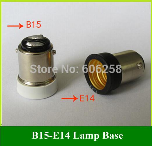 B15 to E14 Lamp Holder Conversion / BA15D Bayonet TO Screw Lampholders Base 1156 to E14 50PCS(China (Mainland))