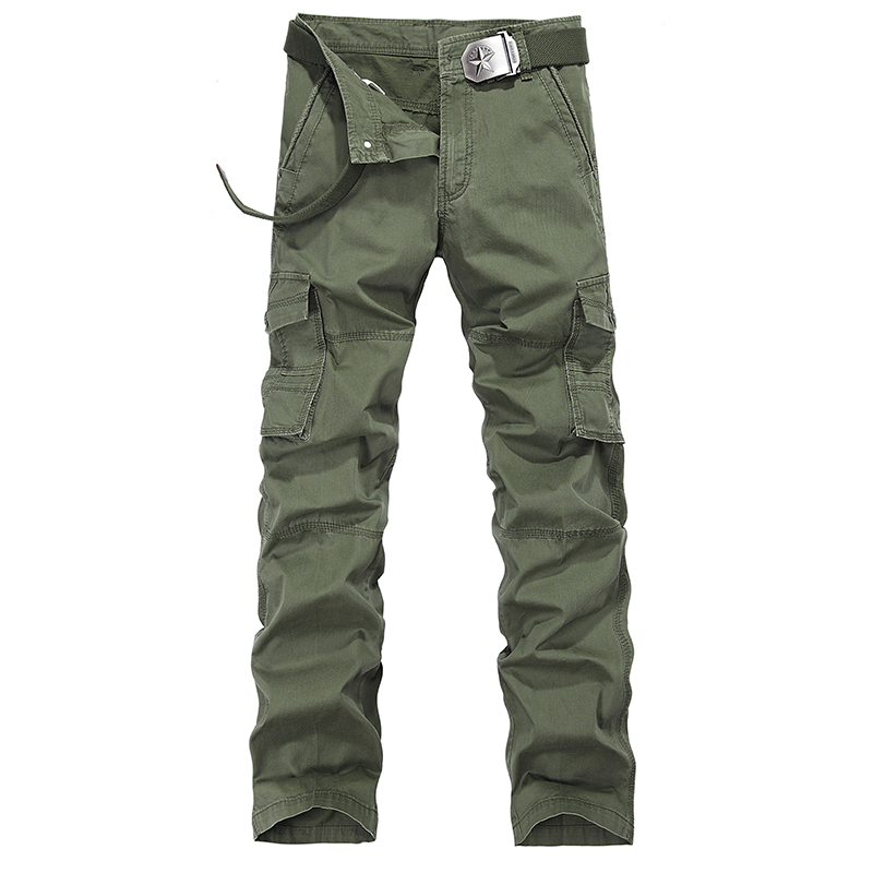 Men's Fashion Camouflage Cargo Casual Pants Slim Fit Outdoors Military Tactical Clothing Cotton100% 2014 New size 40(China (Mainland))