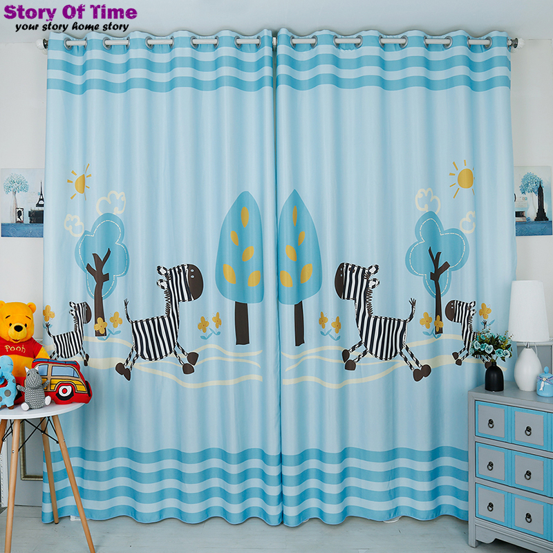 New Chic Room children zebra curtain decoration curtains for children room window teratment drapes insulated blackout curtains(China (Mainland))