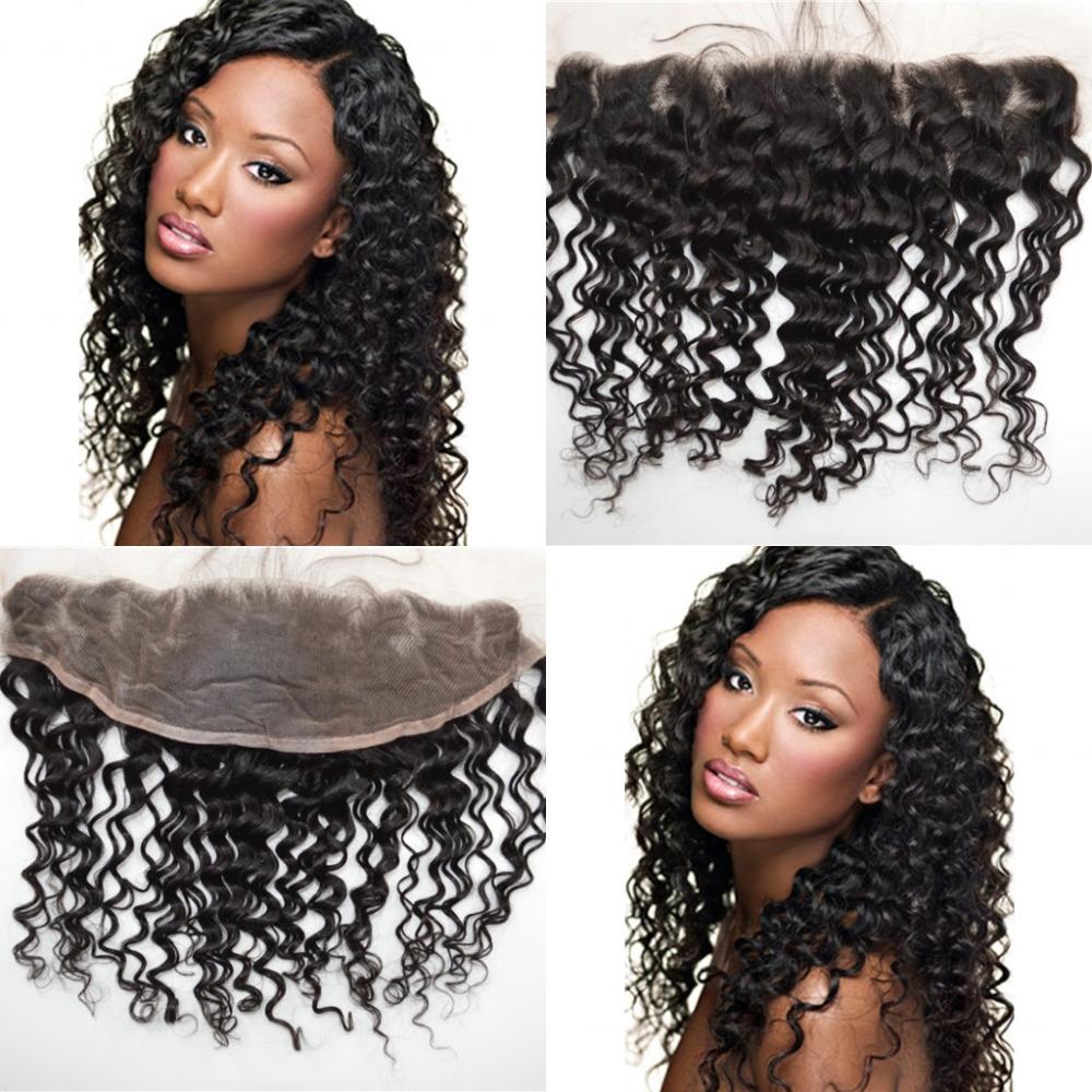 Здесь можно купить  Burmese Deep Wave Virgin Hair Frontal Closures,Lace Frontal Closure 13x4 Lace Closure Ear to Ear Lace Frontal With Baby Hair  Волосы и аксессуары