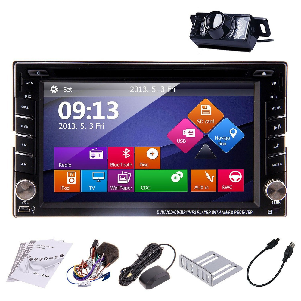Windows HD Touch Screen In-Dash Double 2DIN GPS Car Stereo DVD GPS Player Bluetooth TV Radio Call Music Video Audio Head Unit(China (Mainland))