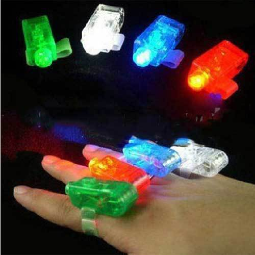 Russhop Colorful LED Finger Light Lamp Laser light Suction Card Packing(China (Mainland))
