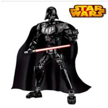 2016 Star Wars Darth Vader with Lightsaber White Storm Trooper w/gun Figure toys building blocks Free shipping