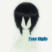 Sword Art Online Kirigaya Kazuto Cosplay Wigs Pixie Cut Hairstyle Synthetic Wigs Short Hair Straight Black Wigs Perruque Hombre<br><br>Aliexpress