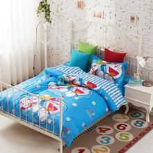 3pcs Doraemon bedding teen bedding sets cheap duvet covers bedroom comforter sets twin bed comforters cotton comforters