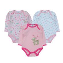 3 шт./партия, Зимние Детские Боди унисекс для маленьких мальчиков, трико для девочек, комбинезон для новорожденных, Рождественская одежда(China)